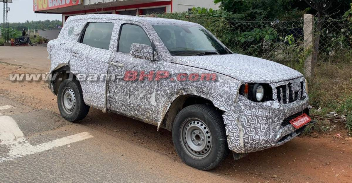 All-new Mahindra Scorpio एंट्री-लेवल बेस वेरिएंट स्पाइड टेस्टिंग
