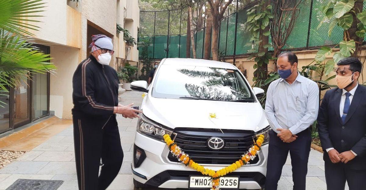 Amitabh Bachchan की नवीनतम सवारी एक Facelifted Toyota Innova Crysta MPV है