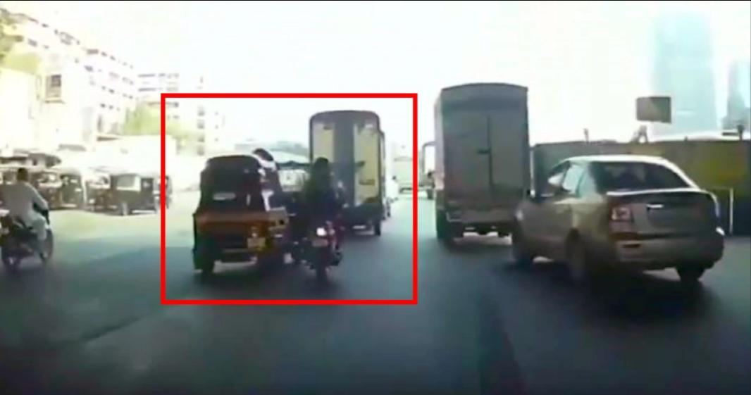 मुंबई में तर्क के बाद ऑटोरिक्शा चालक जानबूझकर बाइकर से टकरा गया