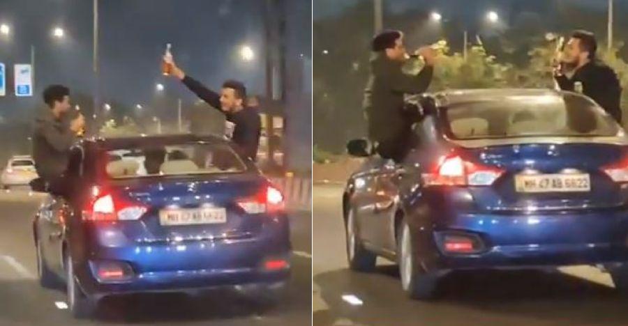 नशे में धुत ड्राइविंग वीडियो वायरल होने के बाद मुंबई के 3 युवक गिरफ्तार
