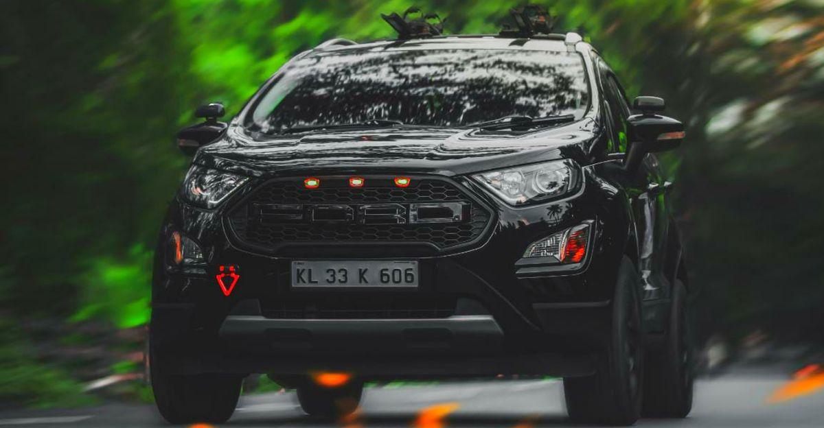 All-Black Ford EcoSport को खूबसूरती से संशोधित किया गया है