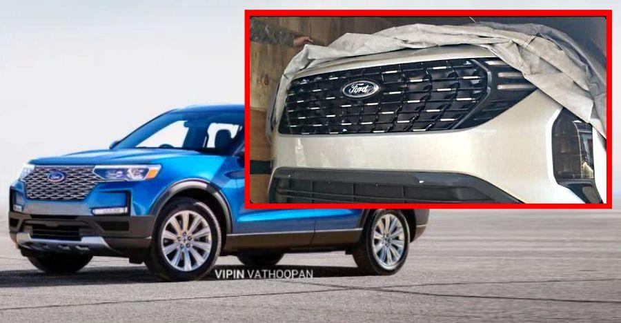 भारत के लिए Ford की Mahindra XUV500 आधारित SUV की पहली इमेज लीक