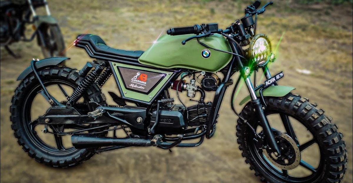 मॉडिफाई Hero Splendor एक सुंदर Scrambler मोटरसाइकिल में