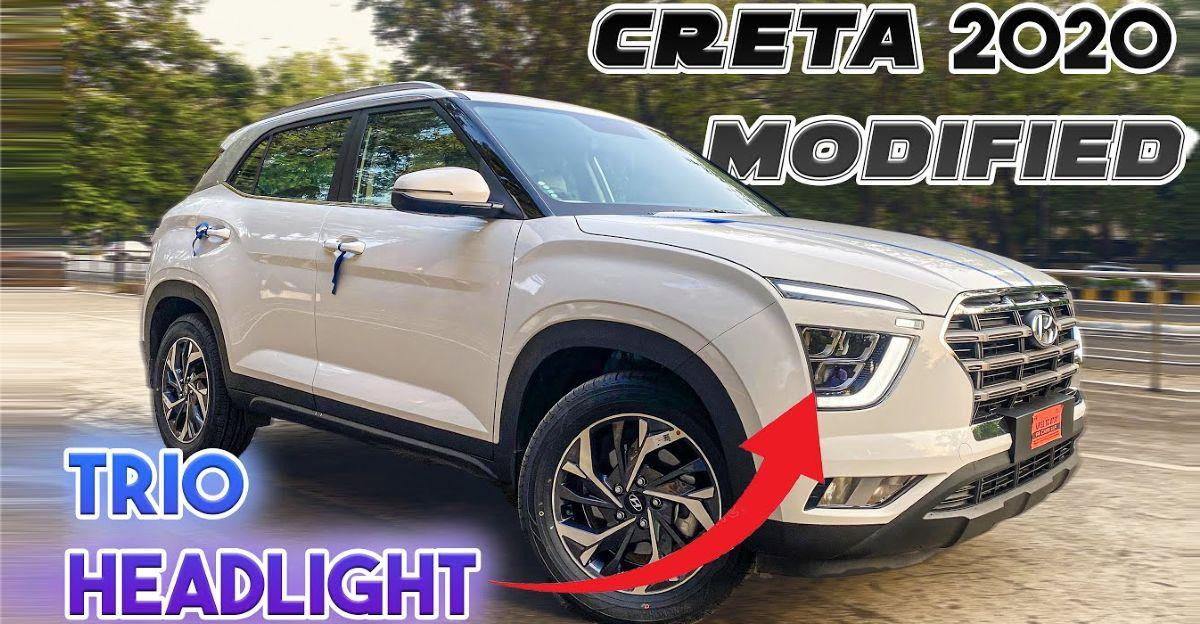 Hyundai Creta E बेस ट्रिम को एसएक्स ट्रिम जैसा दिखने के लिए संशोधित किया गया