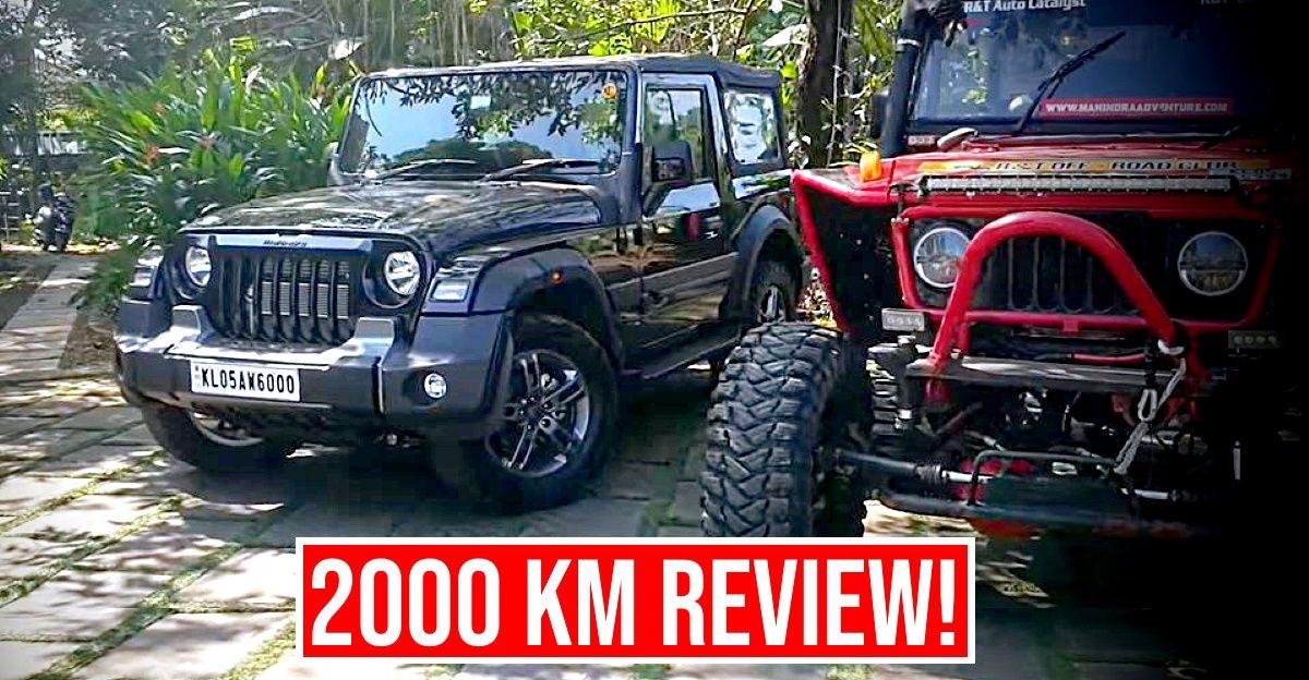 2,000 किलोमीटर पूरा करने के बाद महेंद्र थार 2020 के स्वामी उसकी समीक्षा करते हैं