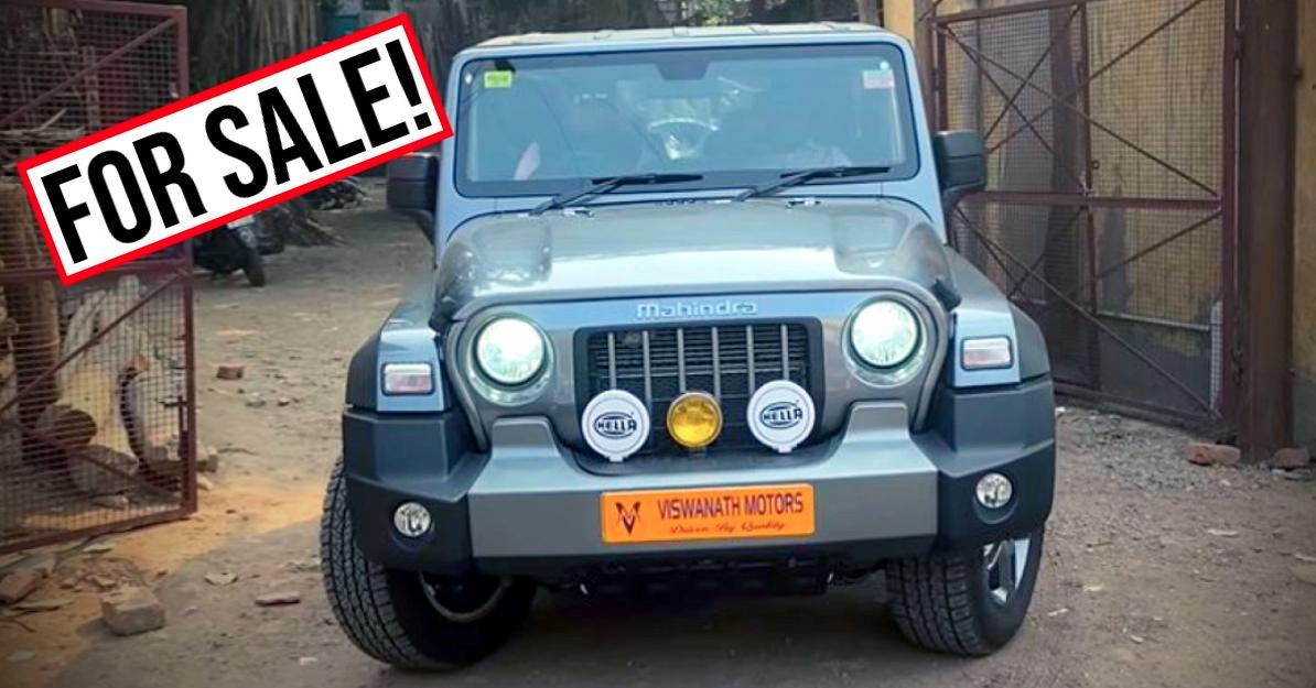 2020 Mahindra Thar भारत में सेकंड हैंड कार बाजार को हिट करता है