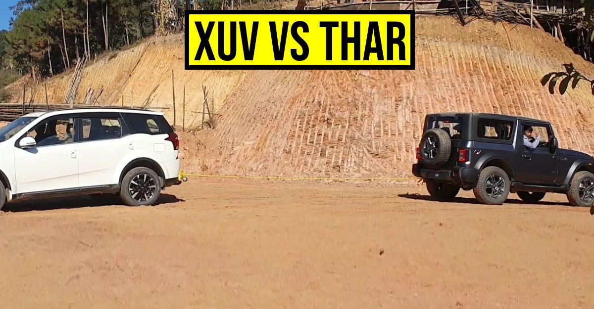 2020 Mahindra Thar 4X4 टग-ऑफ-वार में Mahindra XUV500 AWD पर विजय लेती है