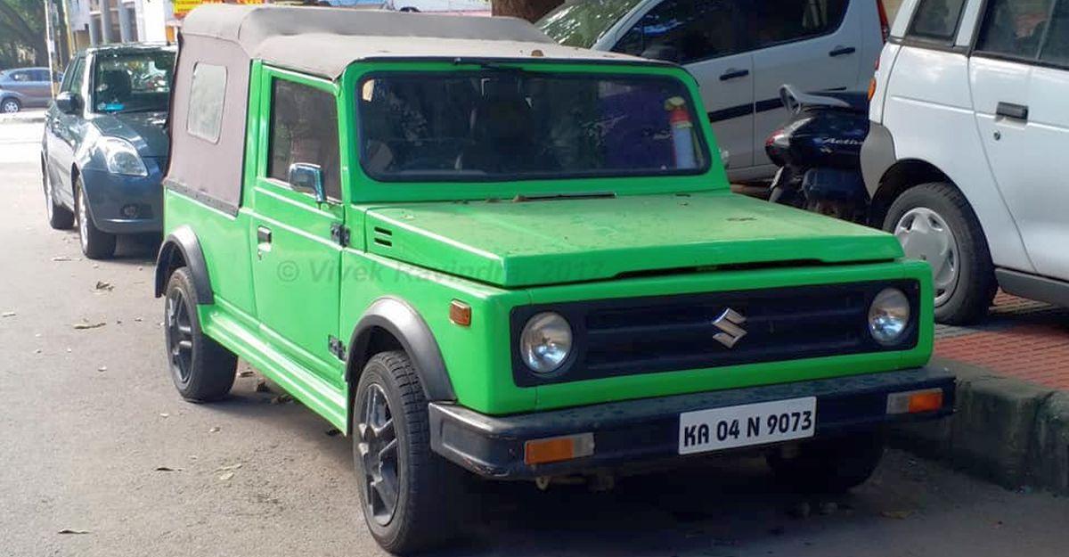 Maruti 800 Gypsy की तरह दिखने के लिए मॉडिफाई किया गया