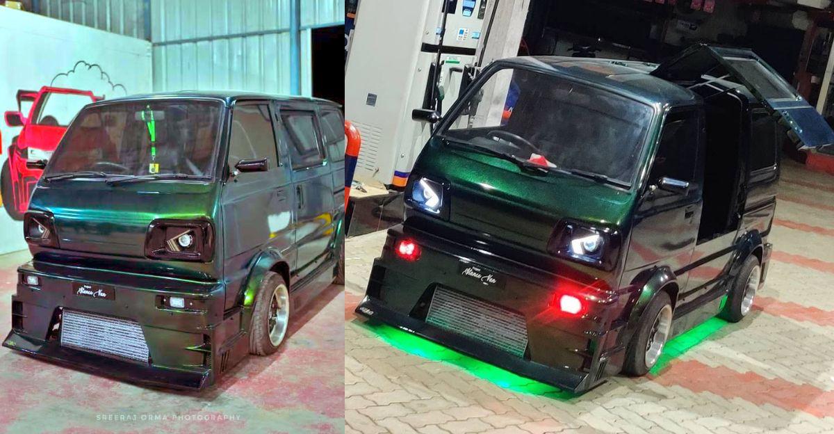Modified Maruti Suzuki Omni एक सड़क पर चलने वाला राक्षस