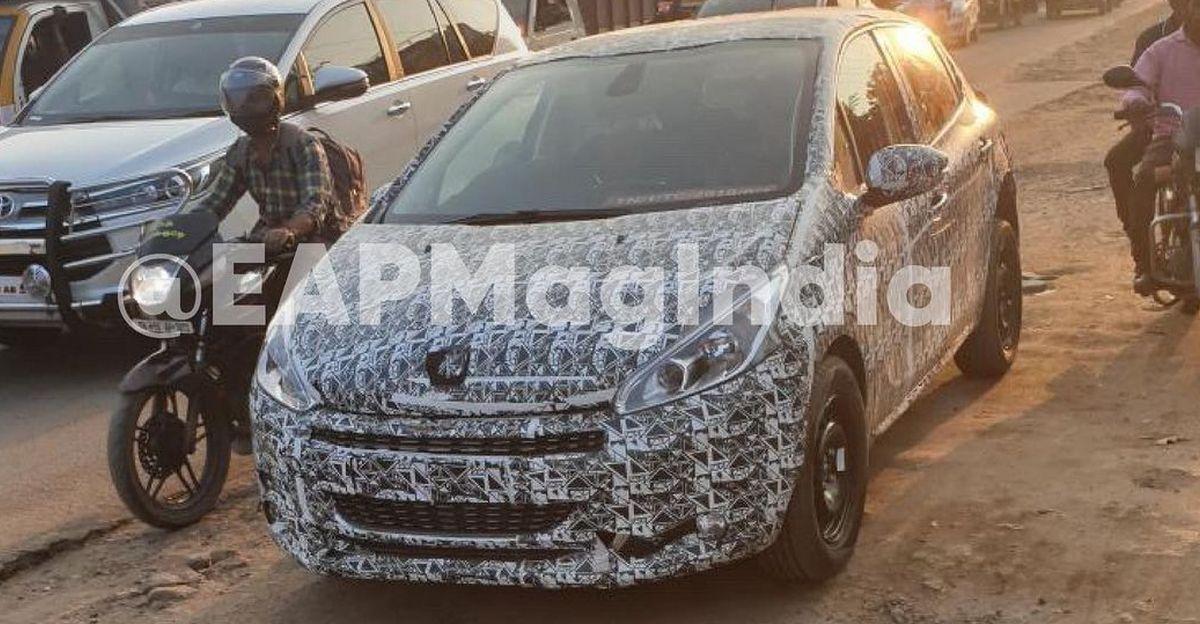 Peugeot 208 प्रीमियम हैचबैक ने भारत में परीक्षण किया