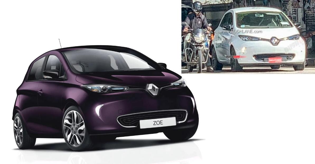 Renault की इलेक्ट्रिक हैचबैक ज़ो भारत में परीक्षण के लिए देखी गई