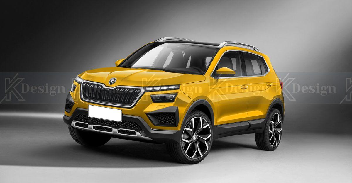 Skoda VISION IN SUV के नए रेंडरर्स; Hyundai Creta की प्रतिद्वंद्वी होगी