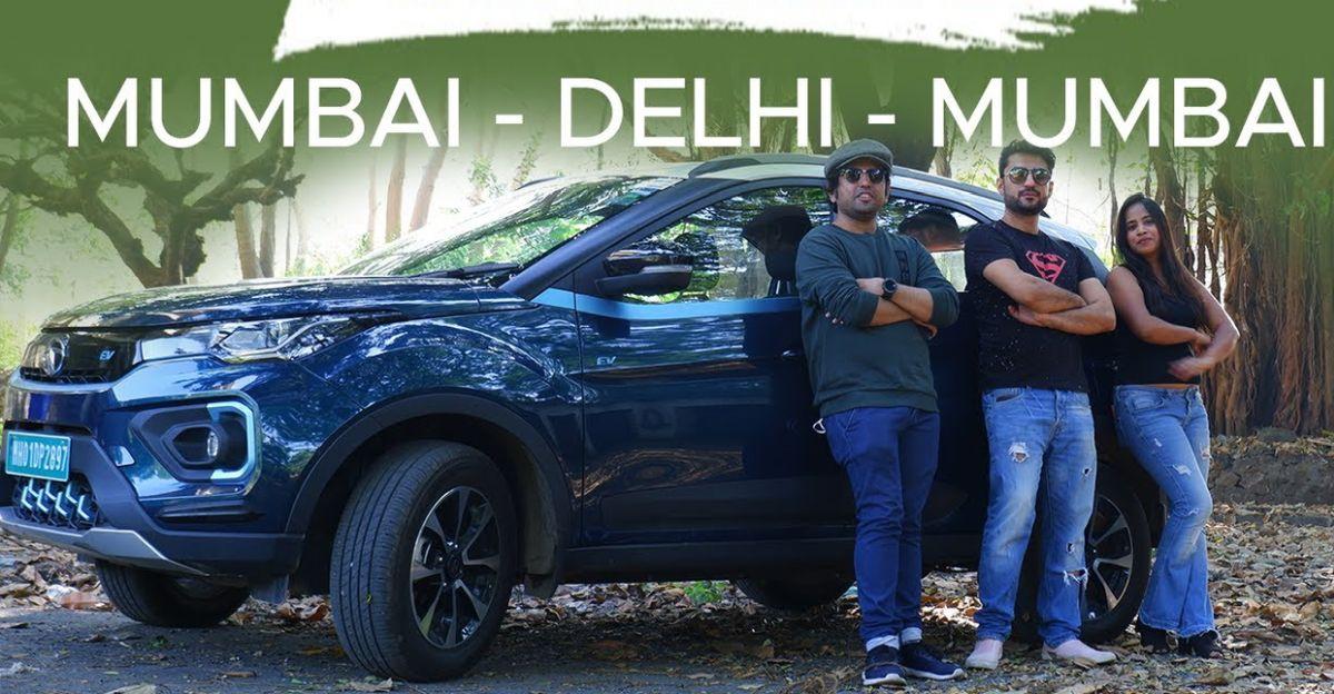 युगल ने Tata Nexon इलेक्ट्रिक एसयूवी को मुंबई से दिल्ली तक चलाया
