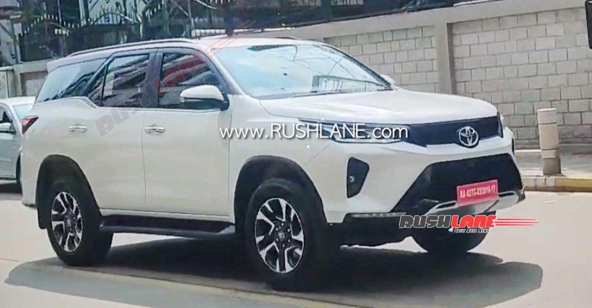2021 Toyota Fortuner Legender SUV TVC शूट के दौरान जासूसी की