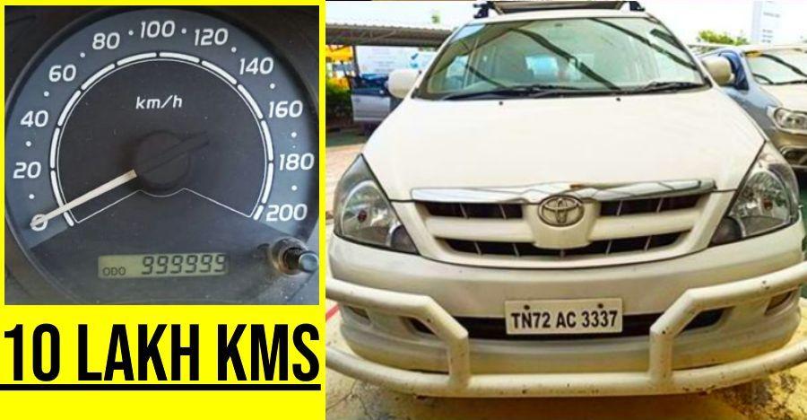मिलिए भारत की Toyota Innova से जो 10 लाख किलोमीटर से ज्यादा तय कर चुकी है