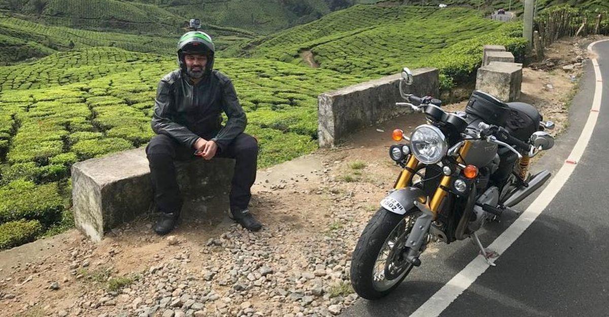 Volkswagen इंडिया के MD Gurpartap Boparai ने अपनी Triumph Thruxton सुपरबाइक पर 50,000 km की दूरी तय की