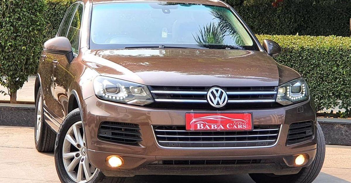 अच्छी कंडीशन में रखी Volkswagen Touareg 4X4 डीजल V6 luxury SUV, 2020 हुंडई क्रेटा की तुलना में सस्ती