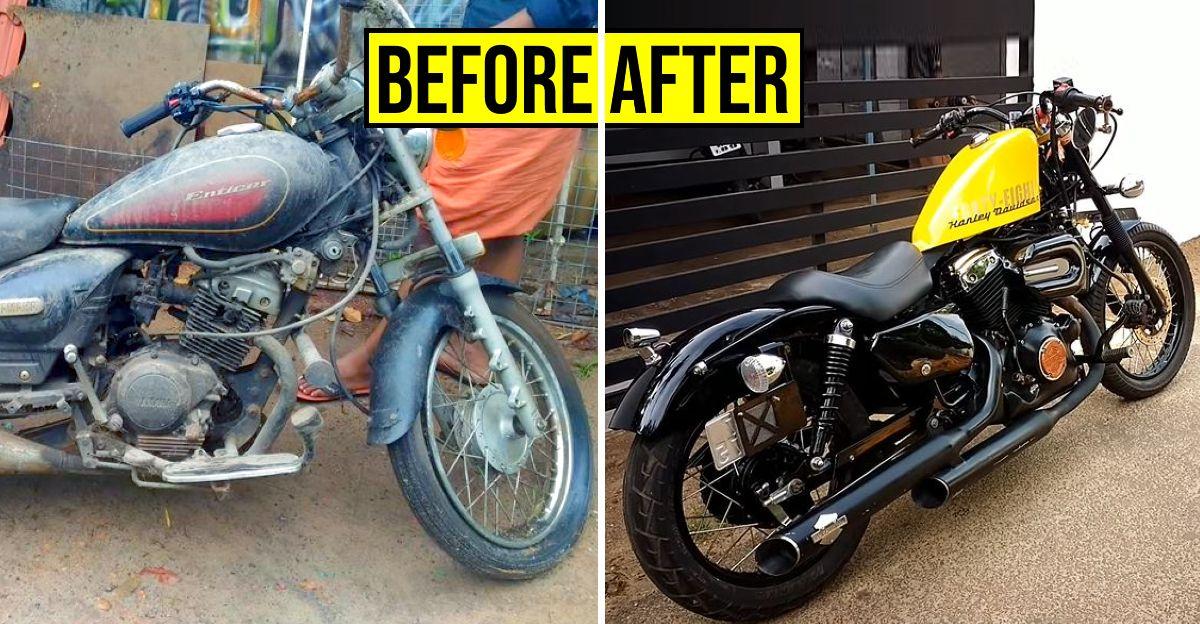 125cc Yamaha Entice Harley Davidson Forty-Eight में तब्दील