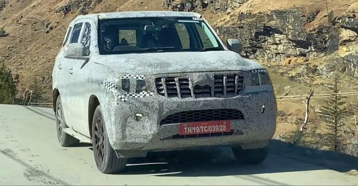 अगली-जनरल Mahindra Scorpio SUV का उत्पादन संस्करण फिर से Spied