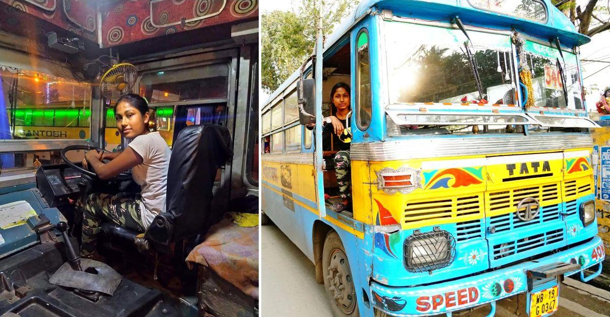 भारत की सबसे कम उम्र की महिला बस ड्राइवर सिर्फ 22 साल की है, जब उसने 8 साल की उम्र में बस चलाना सीखा था