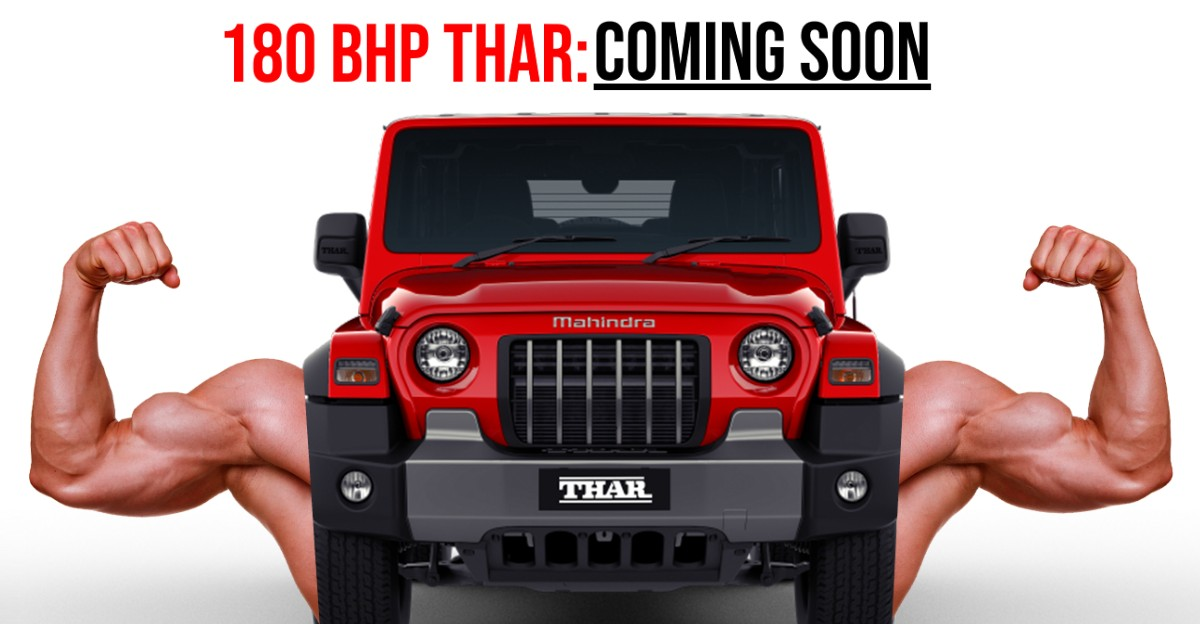 Mahindra 180 BHP टर्बो पेट्रोल Thar पर काम कर रहा है