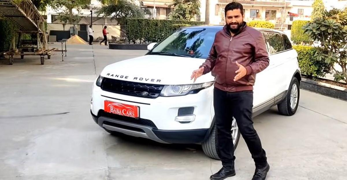 अच्छी तरह से बनाए रखा Range Rover Evoque SUV 20 लाख रुपये से कम में बिक रही है