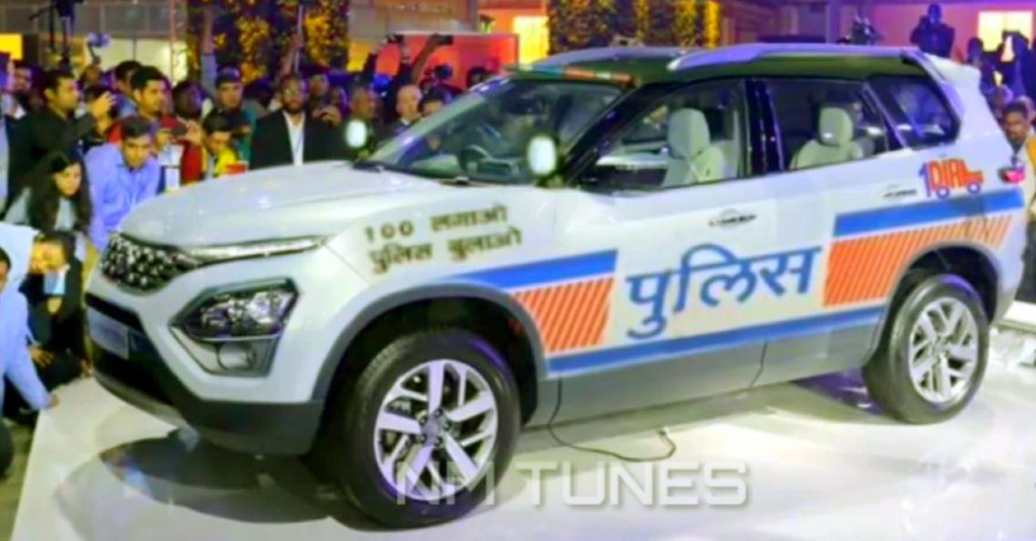 ऑल-न्यू Tata Safari एसयूवी एक पुलिस कार के रूप में पुनः कल्पना की गई