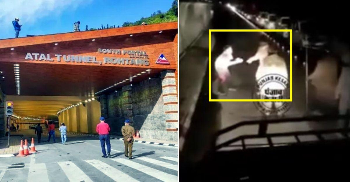 Himachal Police के अधिकारियों ने अटल सुरंग के अंदर एक शख्स की पिटाई की, वीडियो वायरल