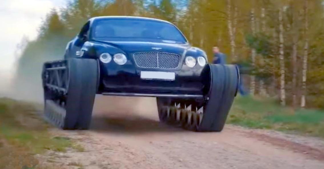 टैंक पटरियों के साथ यह संशोधित Bentley Continental GT लुभावनी है