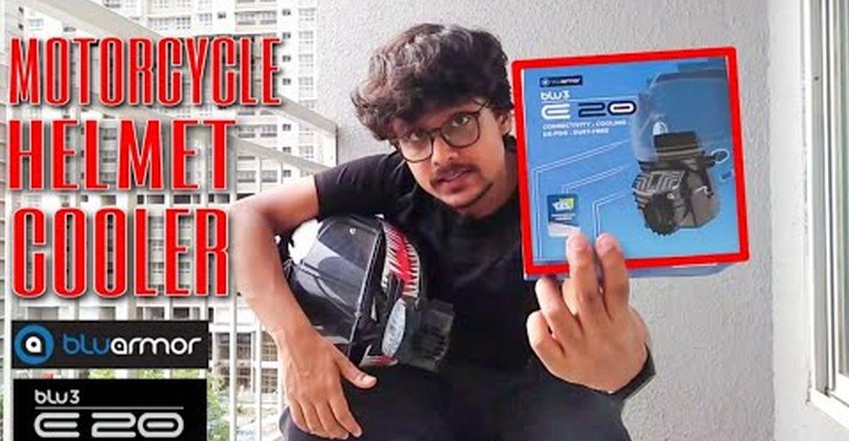 Vlogger BluArmor BLU3 E20 हेलमेट कूलर की समीक्षा करता है