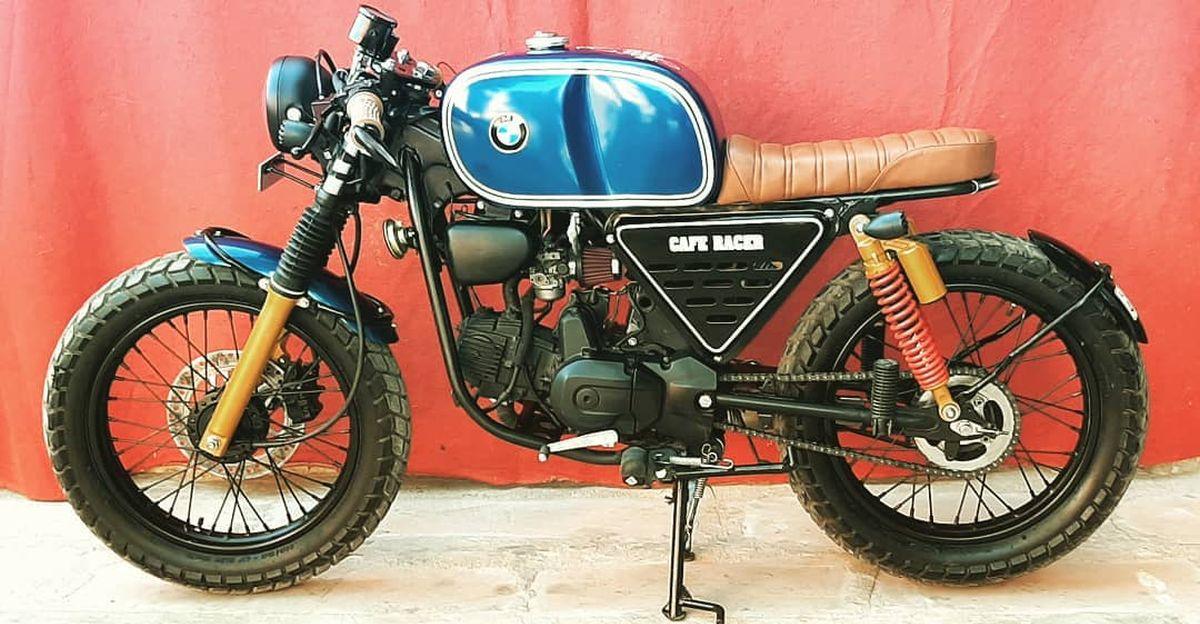 BMW R80 Retro Cafe Racer मोटरसाइकिल वास्तव में एक Hero Splendor है