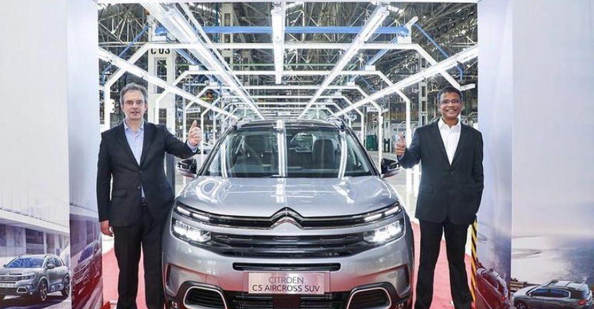 Citroen C5 Aircross SUV का उत्पादन भारत में शुरू होता है