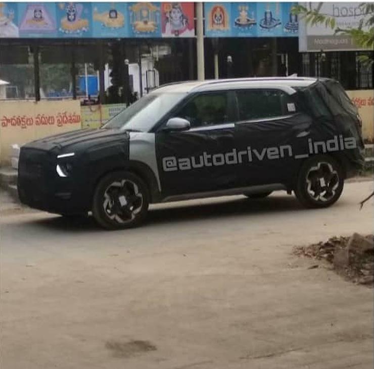 आगामी Hyundai Creta 7-seat SUV फिर से दिखाई दी