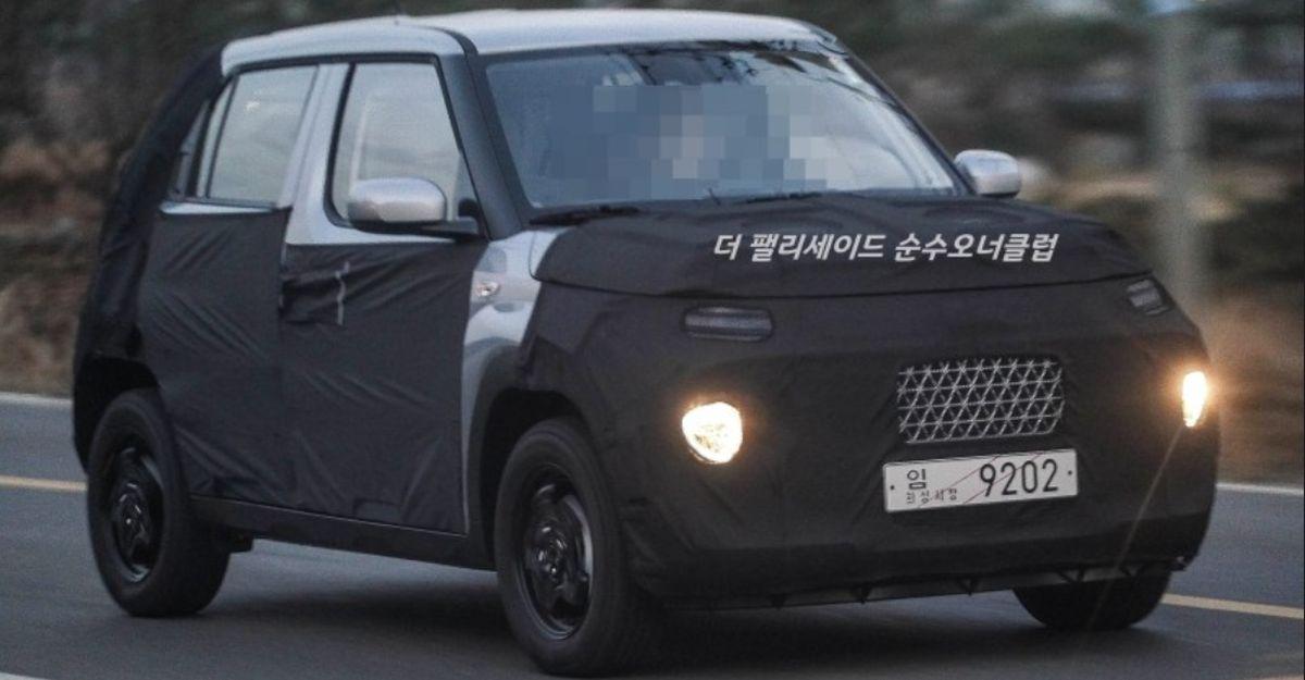 Hyundai AX1 माइक्रो SUV के नए स्पाइसशॉट से और अधिक जानकारी पता चलता है
