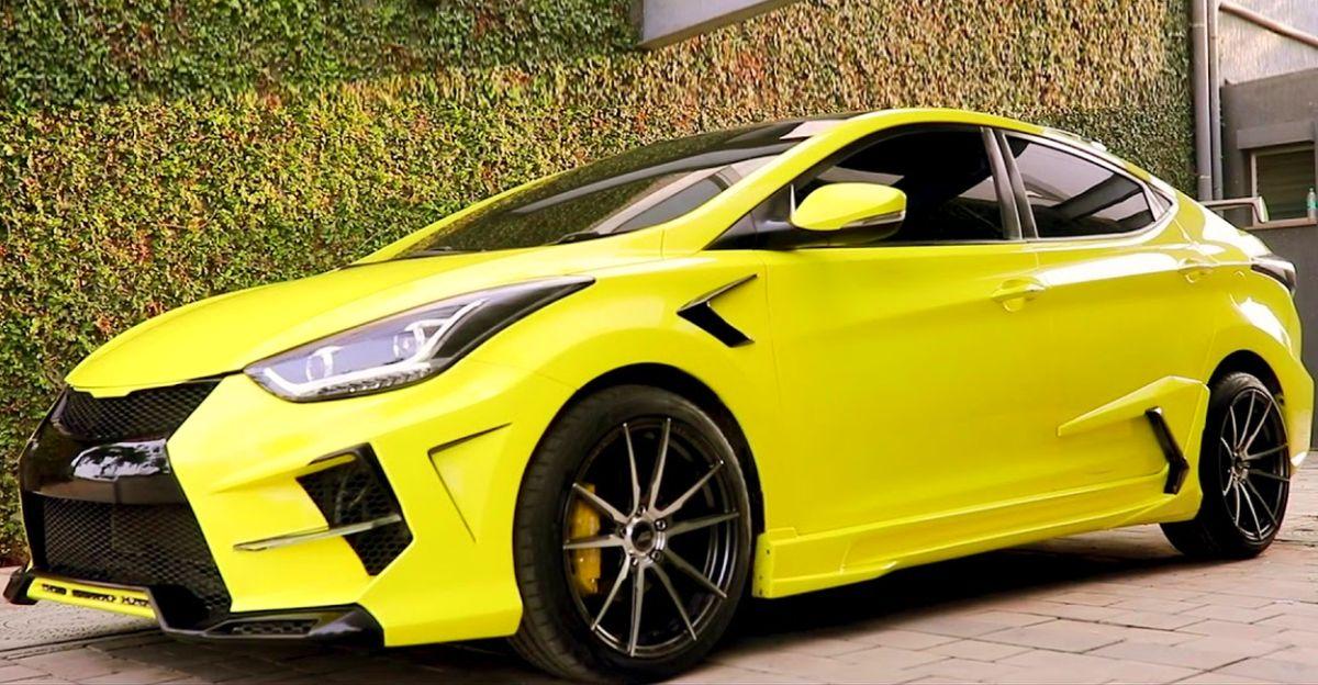भारी संशोधित Hyundai Elantra सेडान आपके आँखों में बसने वाला है
