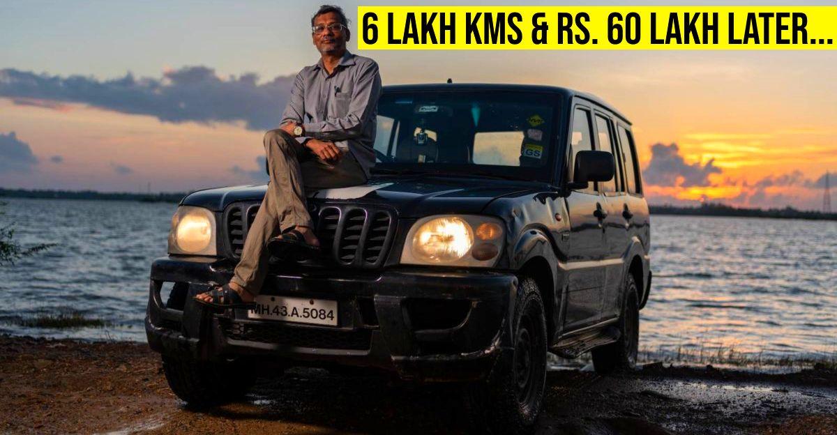 HVK Forum के HV Kumar ने अपनी Mahindra Scorpio में 6 लाख किलोमीटर की दूरी तय की है, ईंधन और रखरखाव पर 60 लाख