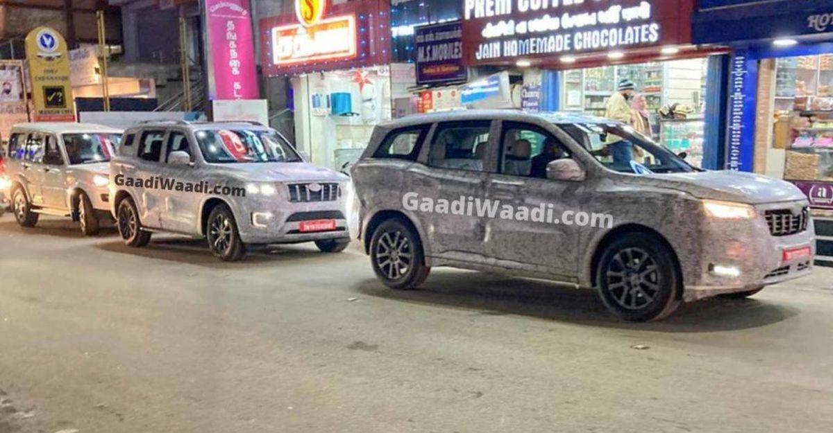 Mahindra 2021 Scorpio और 2021 XUV500 भारतीय सड़कों पर एक साथ दिखाई दी
