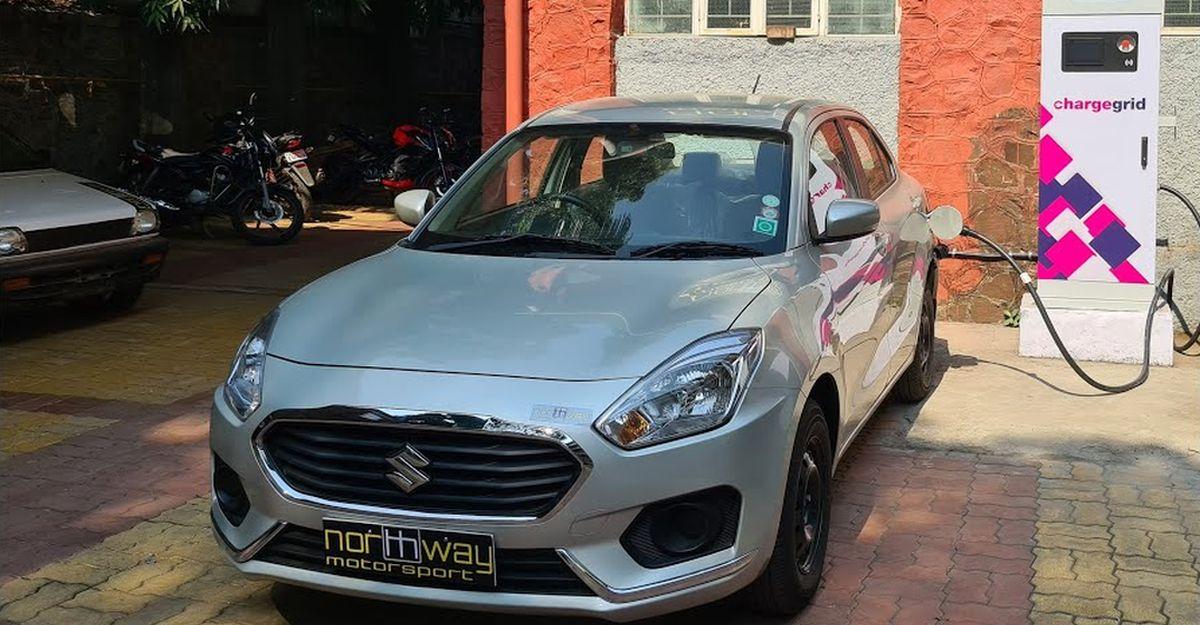 यह भारत की पहली Maruti Suzuki Dzire इलेक्ट्रिक व्हीकल में परिवर्तित हो गई है