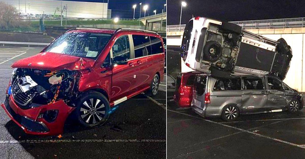 असंतुष्ट Mercedes Benz के कर्मचारी ने तोड़फोड़ की, 50 करोड़ की 69 कारों को नष्ट कर दिया