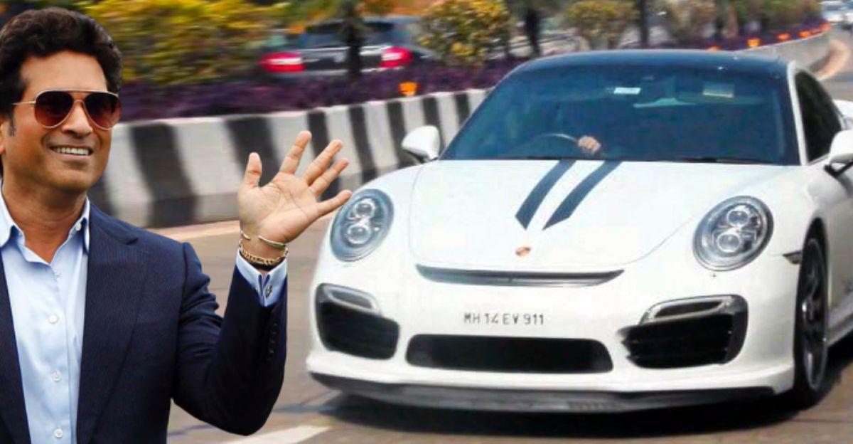 Sachin तेंदुलकर मुंबई की सड़कों पर Porsche 911 Turbo S सुपरकार ड्राइविंग करते हुए दिखाई दिए