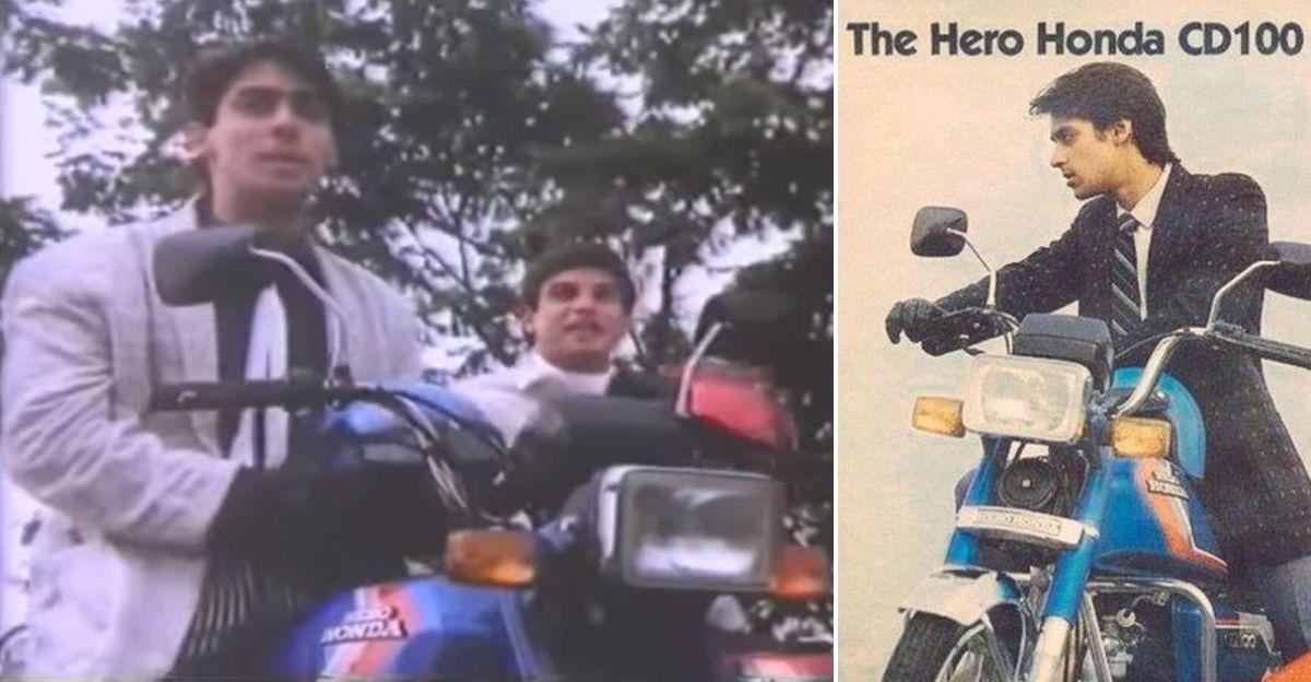 Salman Khan के साथ दुर्लभ Hero Honda CD100