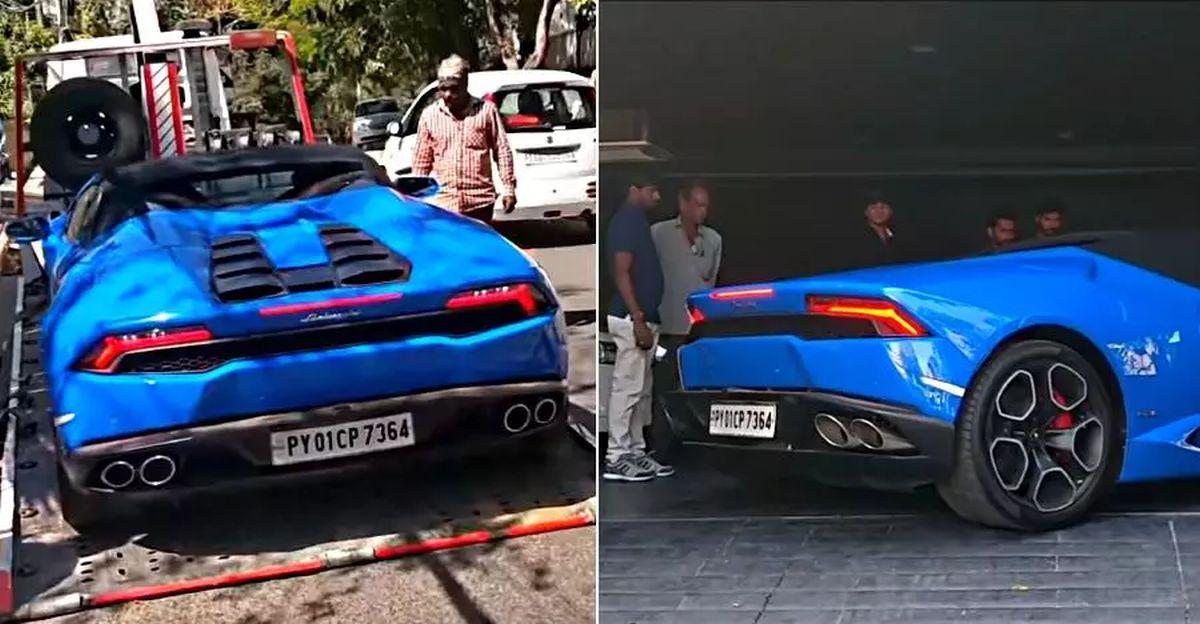 भारत में एक Lamborghini Huracan Spyder सुपरकार का  'होम डिलीवरी'