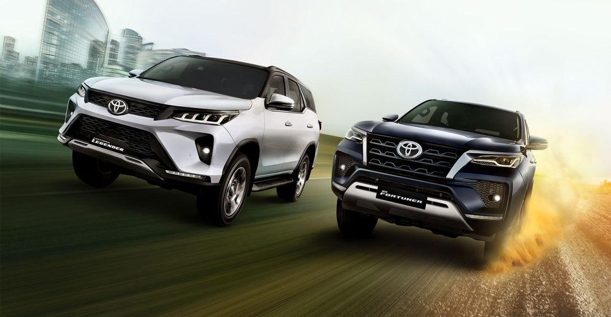 फेसलिफ्टेड 2021 Toyota Fortuner & Legender Luxury SUVs: छवियों में