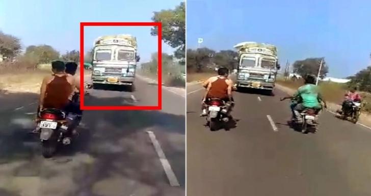 भारतीय ट्रक चालक ने ब्रेक के विफल होने के बाद दुर्घटना को रोकने के लिए 3 किलोमीटर तक ड्राइव की