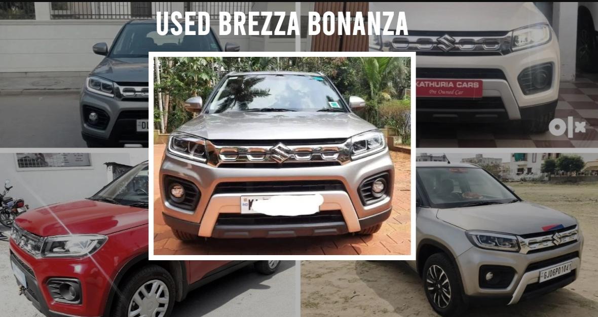 5 Maruti Suzuki Brezza Petrol कॉम्पैक्ट SUVs, जो ओडोमीटर पर 5000 किलोमीटर से कम दूरी पर है
