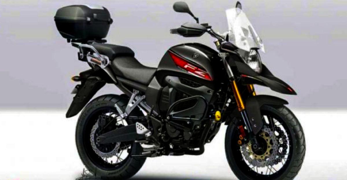 Yamaha FZ-X टूरिंग मोटरसाइकिल का Rendered