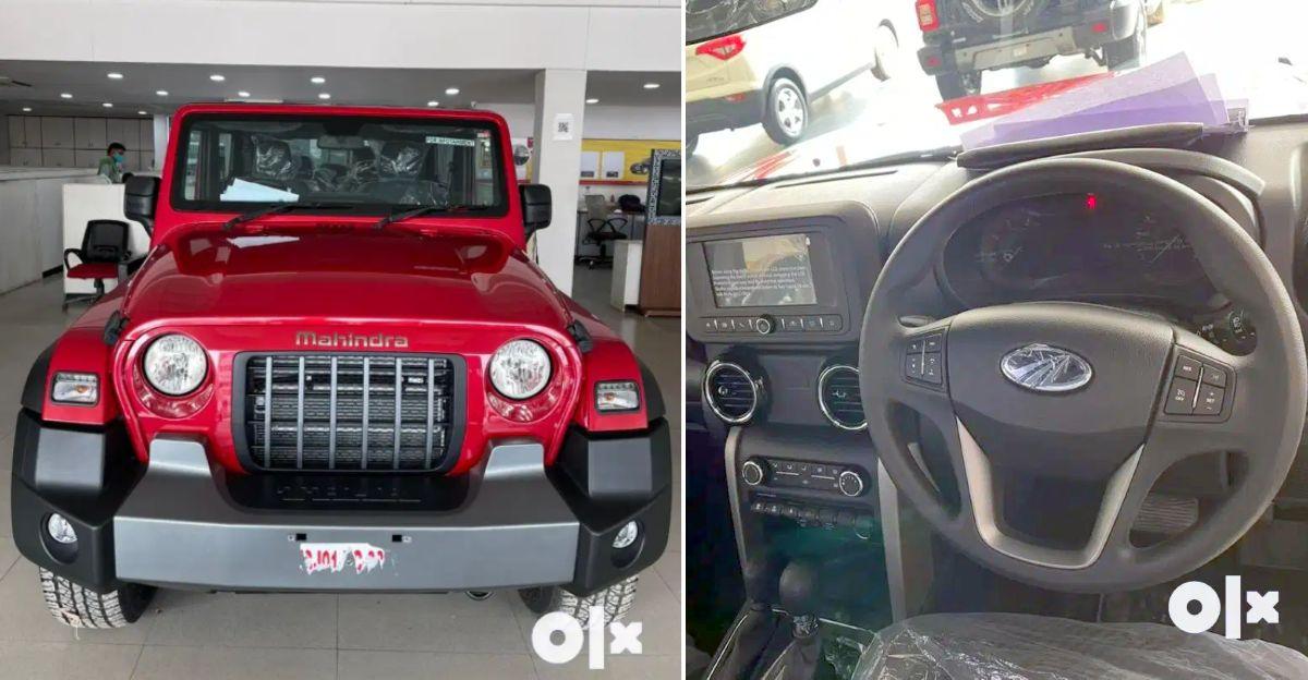 4 लगभग-नया Mahindra Thar Used Car बाजार में बिक्री के लिए उपलब्ध है