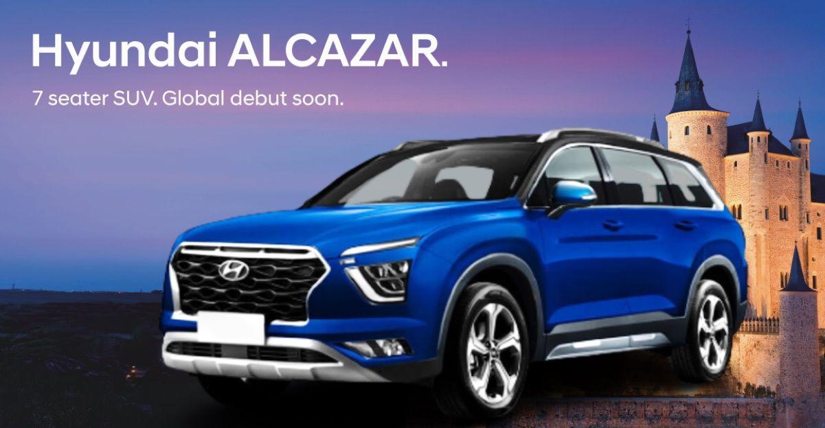 Hyundai Alcazar New Creta पर आधारित आगामी 7-seat SUV का आधिकारिक नाम है