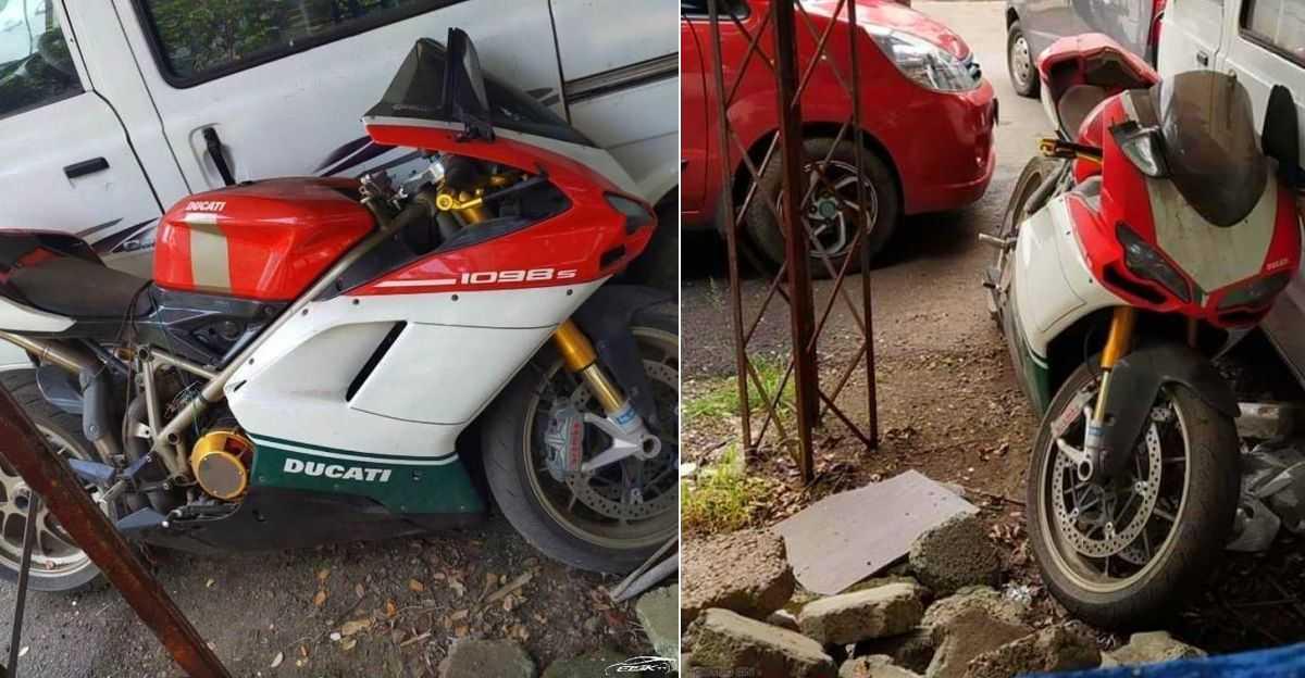 लिमिटेड-एडिशन, भारत में 35 लाख रुपये Ducati 1098 S Tricolore सुपरबाइक ABANDONED