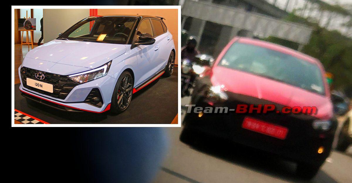 भारत में Hyundai i20 N-Line हाई परफॉर्मेंस हैचबैक टेस्टिंग के दौरान Spied